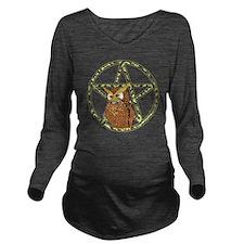 penta owl12 Long Sleeve Maternity T-Shirt