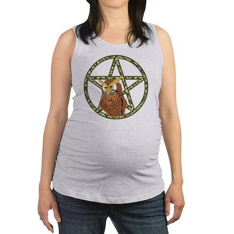 penta owl12 Maternity Tank Top