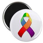 Rainbow Pride II Ribbon Magnet