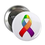 "Rainbow Pride II Ribbon 2.25"" Button (100 pack)"