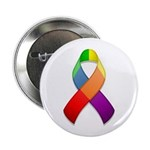 "Rainbow Pride II Ribbon 2.25"" Button (10 pack)"