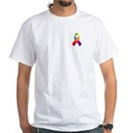 Rainbow Pride II Ribbon White T-Shirt