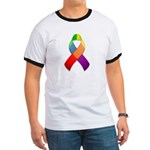 Rainbow Pride II Ribbon Ringer T