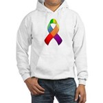 Rainbow Pride II Ribbon Hooded Sweatshirt