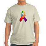 Rainbow Pride II Ribbon Light T-Shirt