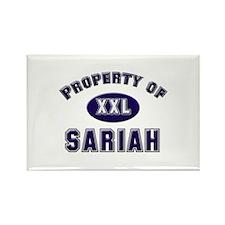 Property of sariah Rectangle Magnet