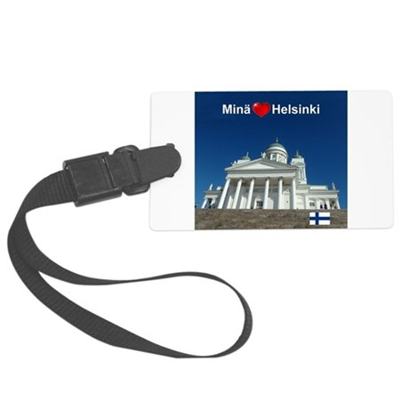 l luv helsinki Large Luggage Tag