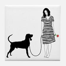 Black--Tan-Coonhound11 Tile Coaster