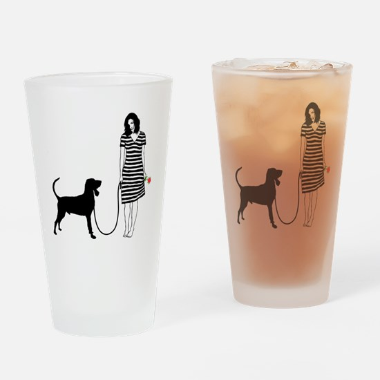 Black--Tan-Coonhound11 Drinking Glass