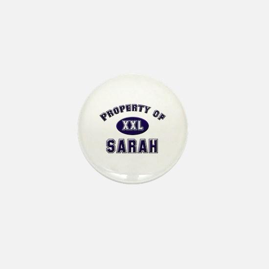 Property of sarah Mini Button