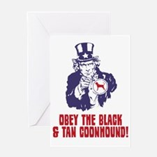 Black-&-Tan-Coonhound18 Greeting Card