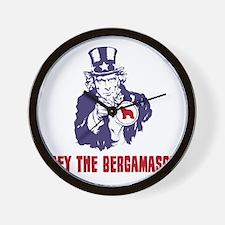 Bergamasco-Sheepdog18 Wall Clock