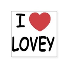 "LOVEY Square Sticker 3"" x 3"""
