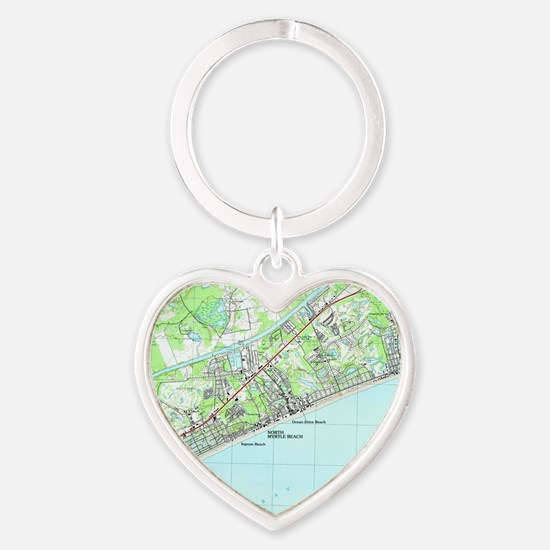 Unique Beach Heart Keychain