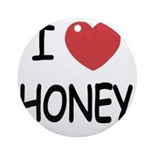 HONEY Round Ornament