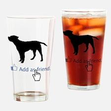 Border-Terrier13 Drinking Glass
