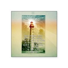 "Light of the World (square) Square Sticker 3"" x 3"""