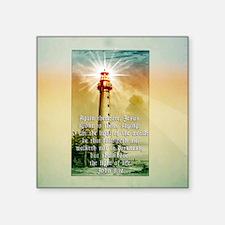 "Light of the World (square) Square Sticker 3"" x 3"""