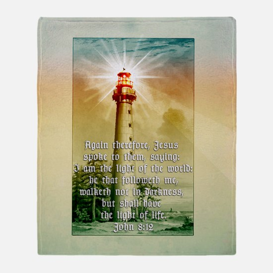 Light of the World (square) Throw Blanket