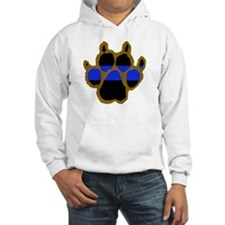Brown Thin Blue Line Paw Enforce Hoodie