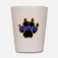 Brown Thin Blue Line Paw Enforcement Shot Glass