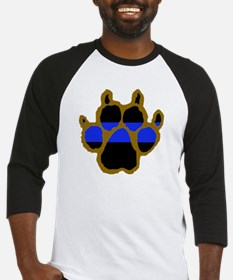 Brown Thin Blue Line Paw Enforceme Baseball Jersey