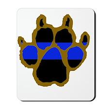 Brown Thin Blue Line Paw Enforcement Mousepad