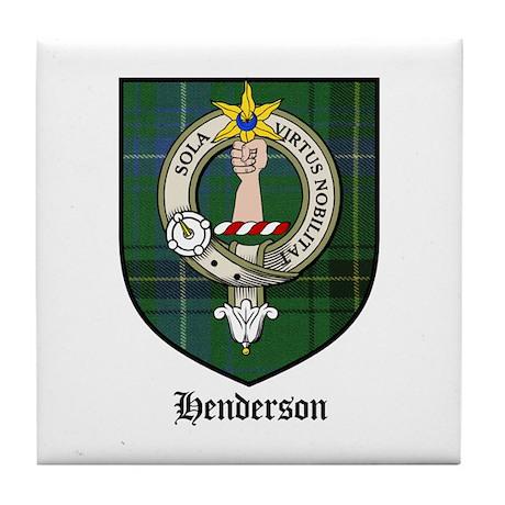 Henderson Clan Crest Tartan Tile Coaster