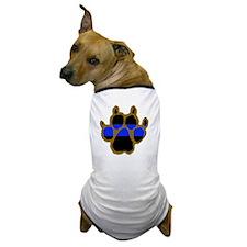 Brown Thin Blue Line Paw Enforcement Dog T-Shirt