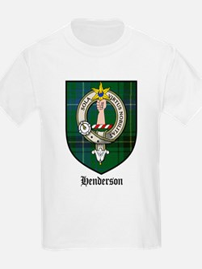 Henderson Clan Crest Tartan Kids T-Shirt