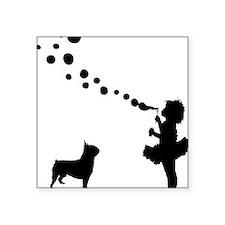 """Boston-Terrier28 Square Sticker 3"""" x 3"""""""