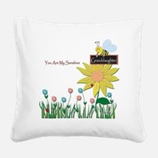 You Are My Sunshine Infant Bl Square Canvas Pillow
