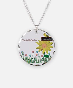 You Are My Sunshine Infant B Necklace Circle Charm