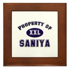 Property of saniya Framed Tile