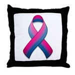 Bi Pride Ribbon Throw Pillow