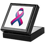 Bi Pride Ribbon Keepsake Box