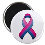 "Bi Pride Ribbon 2.25"" Magnet (100 pack)"