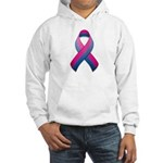 Bi Pride Ribbon Hooded Sweatshirt