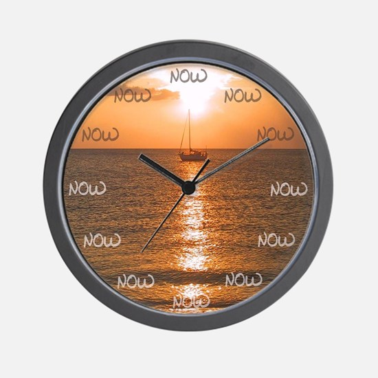 The Time Is Now Wall Clock Sailboat