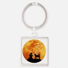 Canaan-Dog22 Square Keychain