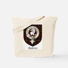 Hepburn Clan Crest Tartan Tote Bag