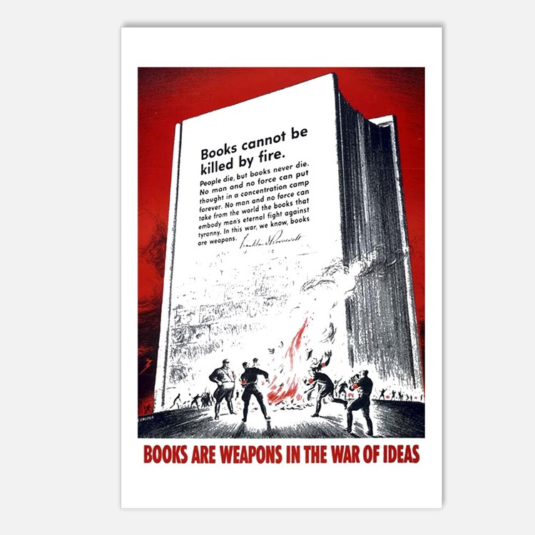 Books Are Weapons Postcards (Package of 8)