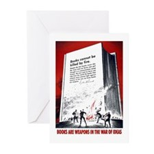 Books Are Weapons Greeting Cards (Pk of 10)