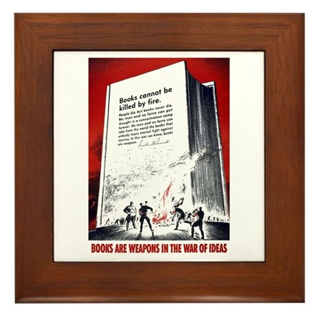 Books Are Weapons Framed Tile