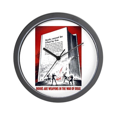 Books Are Weapons Wall Clock