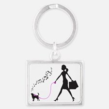 Chihuahua-Smoothcoated32 Landscape Keychain