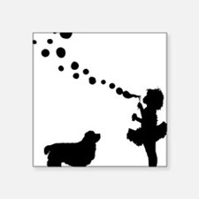 "Clumber-Spaniel28 Square Sticker 3"" x 3"""