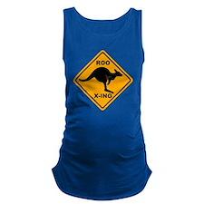 Kangaroo Sign Roo Xing A3 copy Maternity Tank Top