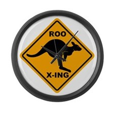 Kangaroo Sign Roo Xing A3 copy Large Wall Clock