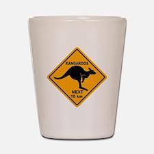 Kangaroo Sign Next Km A2 copy Shot Glass
